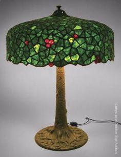 Semmer Leaded Glass Lamp Berry Tree