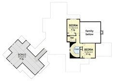 Crystal Falls Modern Farmhouse Floor Plan - David E. Country House Plans, New House Plans, Dream House Plans, House Floor Plans, Modern Farmhouse Plans, Farmhouse Design, Country Farmhouse, Traditional House, Planer
