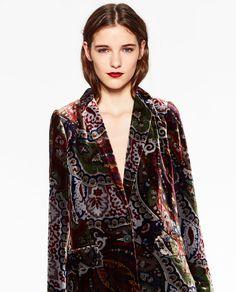 I love velvet and I love the pattern too, so that's double hit - Zara