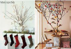 árvore de natal feita com galhos secos - Pesquisa Google