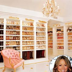 Mariah's Walk in closet...You can never have too many shoes
