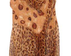 Nuno Felt Womens Vest Leopard Animal Print Extra Long or Bolero Style -    Edit Listing  - Etsy