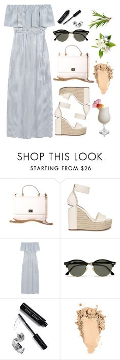 """""""Alexander Wang Espadrilles"""" by summerlife4 ❤ liked on Polyvore featuring Dolce&Gabbana, Alexander Wang, Alice + Olivia, Ray-Ban, TIKI and Bobbi Brown Cosmetics"""
