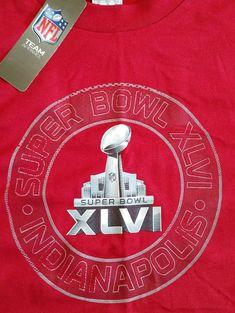 fab249973ed SUPER BOWL 46 XLVI Indianapolis 2012 NFL New York Giants Football T Shirt XL  NWT