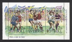 Sweden 1988. Men's football on club and international level and women's club football.