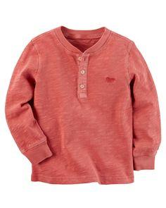 Garment-Dyed Henley | Carters.com
