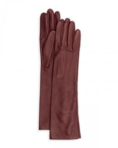 Lanvin Silk Lined Long Leather Gloves 8 5 Black | Accessory
