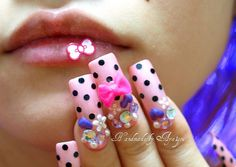 Cute Acrylic Nail Designs | Cute, maybe TOO cute | Flickr - Photo Sharing!