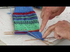 How to knit the easiest sock in the world - by ARNE&CARLOS. PART 1. - YouTube