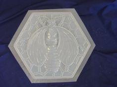 Animal print fleur de lis plastic mold plaster mold rapid set mould