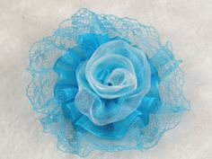 12pcs Heart Flowers Type Flower Lace Volumes Diy Craft the Appliques Pick Color (Blue) *** Learn more by visiting the image link.