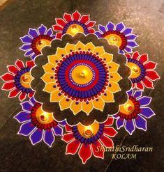 30 Beautiful Diwali Rangoli and Kolam Designs By Shanthi Easy Rangoli Designs Diwali, Indian Rangoli Designs, Rangoli Designs Latest, Simple Rangoli Designs Images, Rangoli Designs Flower, Free Hand Rangoli Design, Rangoli Border Designs, Small Rangoli Design, Rangoli Patterns