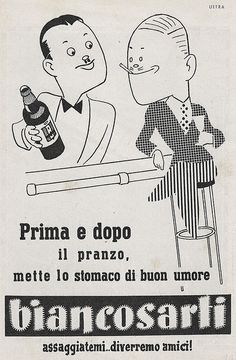 Biancosarti by VINTAGE AD, via Flickr
