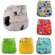 Free shipping ! 10 Coolababy One Size Newborn Cloth Diaper Nappies  with additional leg gusset + 10  insert  with wetbag $52.00