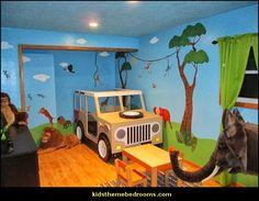 Jungle Wall Stencils for Jungle Theme Wall Mural for Nursery Wall Decor