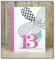 Zentangle Birthday kth by kthaman - Cards and Paper Crafts at Splitcoaststampers