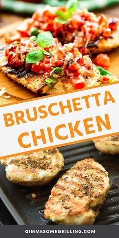 Asparagus Recipe Stove, Grilled Asparagus Recipes, Grilled Chicken Recipes, Baked Asparagus, Homemade Bruschetta, Bruschetta Chicken, 30 Minute Meals Chicken, Chicken With Olives, Balsamic Glaze