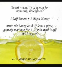 Feel fresh after removing those blackheads ...
