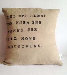 Inspirational Quote Pillow - Handmade Natural Linen Pillow Cover - by CasaAndCo on Etsy