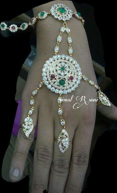 Rajputi jewellery beautiful hathful by Kuldeep Singh