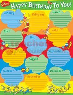 dr. seuss classroom | Dr Seuss Birthday Poster from TeachersParadise.com | Teacher Supplies ...