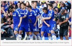 #BLUES travel to The Emirates with League Title in their sights