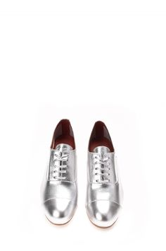 Jeffrey Campbell Shoes TAPS Flats in Silver