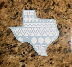 Southwest pattern Texas vinyl decal by handworkt on Etsy
