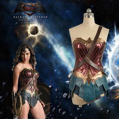 2016 Batman v Superman Wonder Woman Diana Prince Cosplay Costume Custom Adult