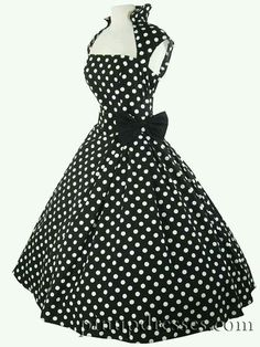 #pinup #fashion #dress #polkadots