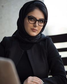 Image may contain: 1 person, sitting, eyeglasses and closeup Beautiful Arab Women, Beautiful Hijab, Beautiful Indian Actress, Arab Girls Hijab, Girl Hijab, Muslim Girls, Iranian Beauty, Muslim Beauty, Beauty Full Girl