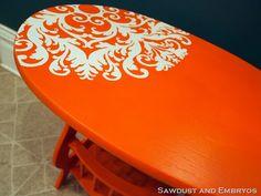 DIY Little Orange End Table