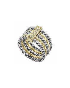 LAGOS Soiree 18K & #Silver 0.16 ct. tw. #Diamond #Ring.