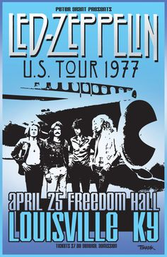 Led Zeppelin - concert poster - Louisville. US Tour 1977