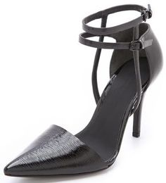 Alexander Wang Emma Ankle Strap Pumps-Black