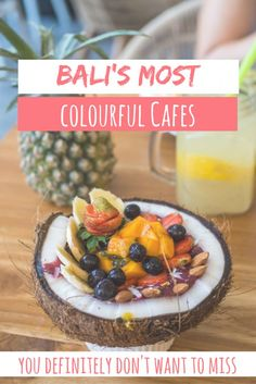 Your favourite cafes in Bali! Bookmark these restaurants to complete your Bali experience! Colourful smoothie bowls, healthy brunch options, Indonesian ribs and more! Lombok, Kuta Bali, Bali Travel Guide, Asia Travel, Travel Tips, Travel Ideas, Travel Articles, Travel Destinations, Travel Goals