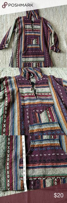 Indian hooded pullover 100% cotton, made in India, hooded shirt. Thick, well made, and brand new. Size medium. It is supposed to fit large. Sooooo awesome. Tops Sweatshirts & Hoodies