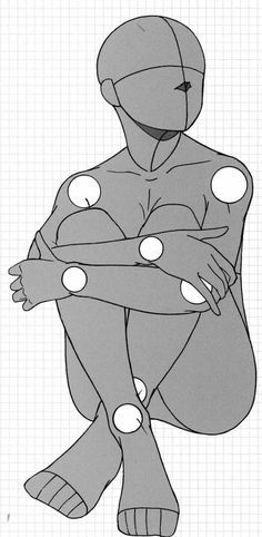 Sitting, crouching, body, position; How to Draw Manga/Anime