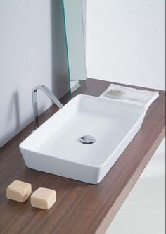 Hidra White Lodge Counter Top Basin, by TuttoBagno