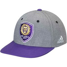 best service df54f 3b798 Men s Orlando City SC adidas Gray Purple Two-Tone Structured Adjustable Hat,   25.99