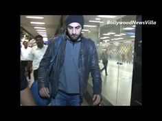 ranbir kapoor returns from TOIFA awards spotted at mumbai airport.