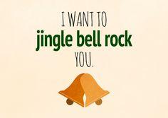 I want to jingle bell rock you | Frohe Weihnachten | Echte Postkarten online…