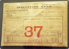Immigrant Inspection card, Ellis Island