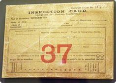 Immigrant Inspection card, Ellis Island