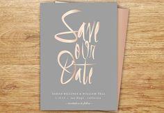 Calligraphy Save The Date, Blush, Gray, Rose Gold, Elegant, Modern Wedding, DIGITAL, Save The Date, Simple, Elegant, Wedding, Choose Colors