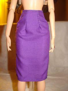 Barbie Doll Separates  Grape purple aline by KelleysKreationsLV, $3.00