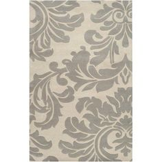 Art of Knot Pinson Wool Area Rug, White