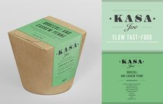 Bessermachen Design Studio created logotype, identity, and packaging for Kasa Joe. A pasta take-away concept with 4 different homemade recipes