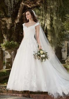 Essence of Australia gown with a-line silhouette, sweetheart neckline, cap sleeves, hand-sewn Diamante accents, and embellished lace I Style: D1919 I https://www.theknot.com/fashion/d1919-essense-of-australia-wedding-dress?utm_source=pinterest.com&utm_medium=social&utm_content=june2016&utm_campaign=beauty-fashion&utm_simplereach=?sr_share=pinterest