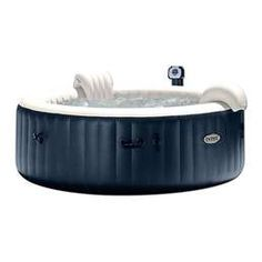 Intex PureSpa 75 -in Portable Bubble Jet Spa 6 Person Inflatable Round Hot Tub at Lowe's. After a long day of work, relax and indulge yourself in the Intex PureSpa Portable Hot Tub.With the touch of a button activate the 170 soothing bubble